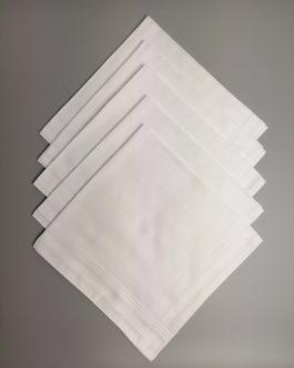 Chusteczki męskie białe (10 sztuk)