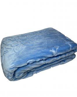 Koc akryl tłoczony 160×210 Elway błękitny