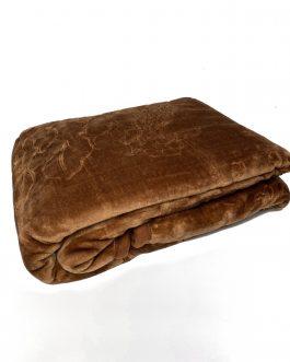 Koc akryl tłoczony 160×210 Elway brązowy ciemny