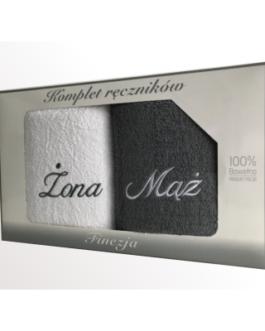 Komplet ręczników ŻONA/MĄŻ