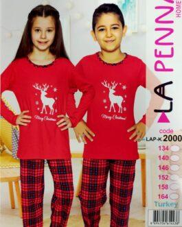 Piżama dziecięca La Penna Świąteczna