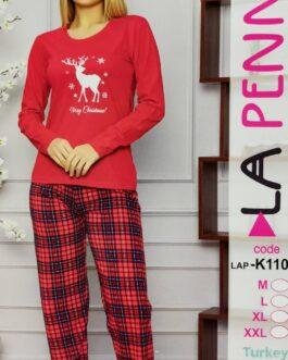 Piżama damska La Penna Świąteczna